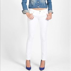 Paige Skyline Ankle Peg Skinny Jeans Optic White